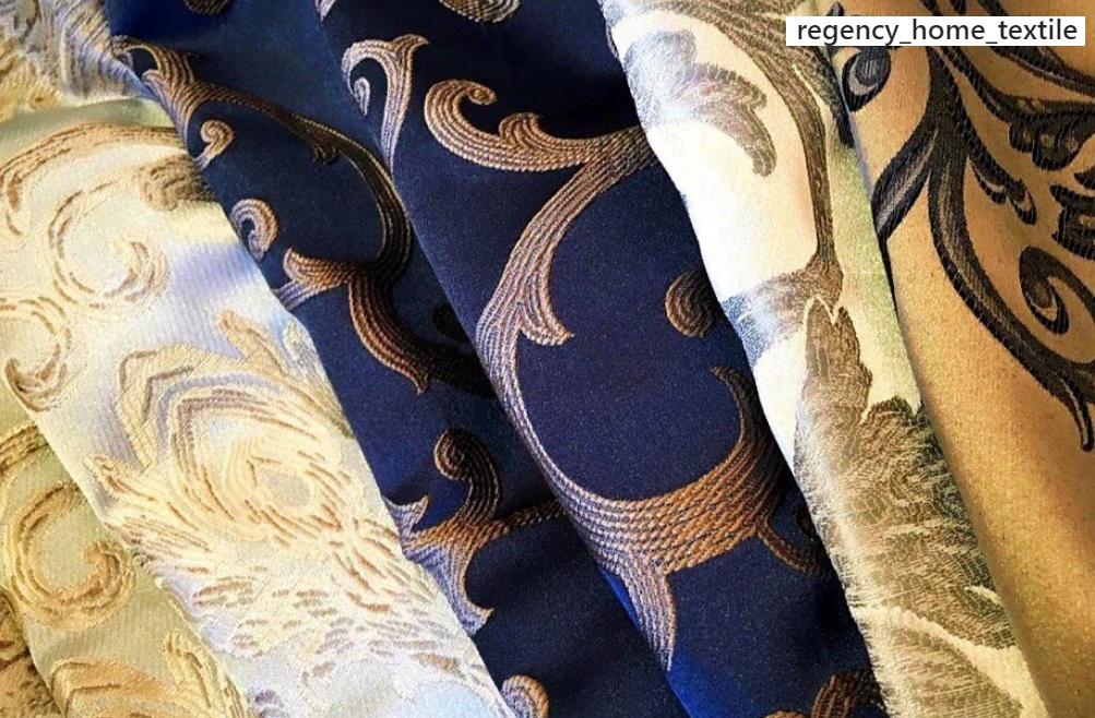 Ткани для пошива комбинированной шторы могут объединяться общим рисунком