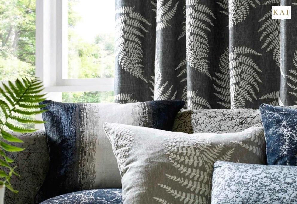 Модные шторы с растительным принтом