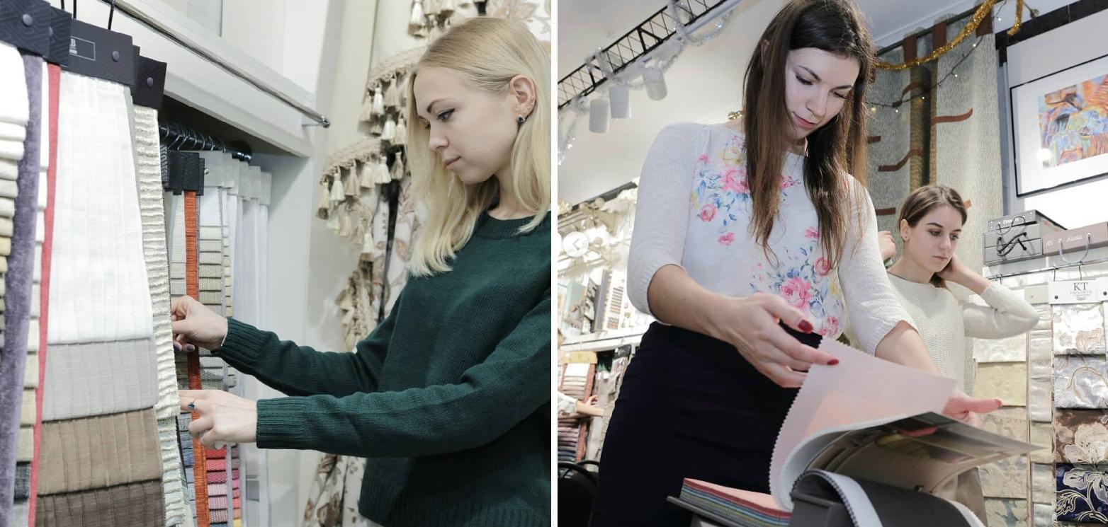 В ассортименте компании «Еврошторы» представлен выбор тканей разнообразных цветов, принтов, фактур.