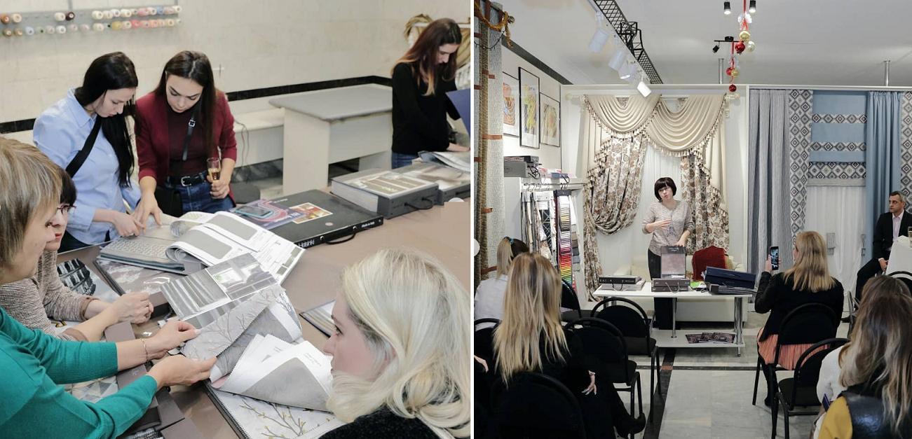 Наши мастера проводят мастер-классы шитья штор и текстильного оформления