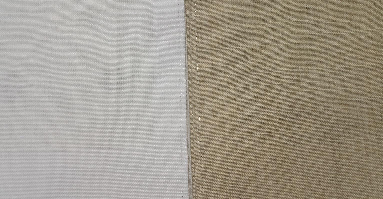 Штора из двух разных тканей могут быть разные по своей структуре