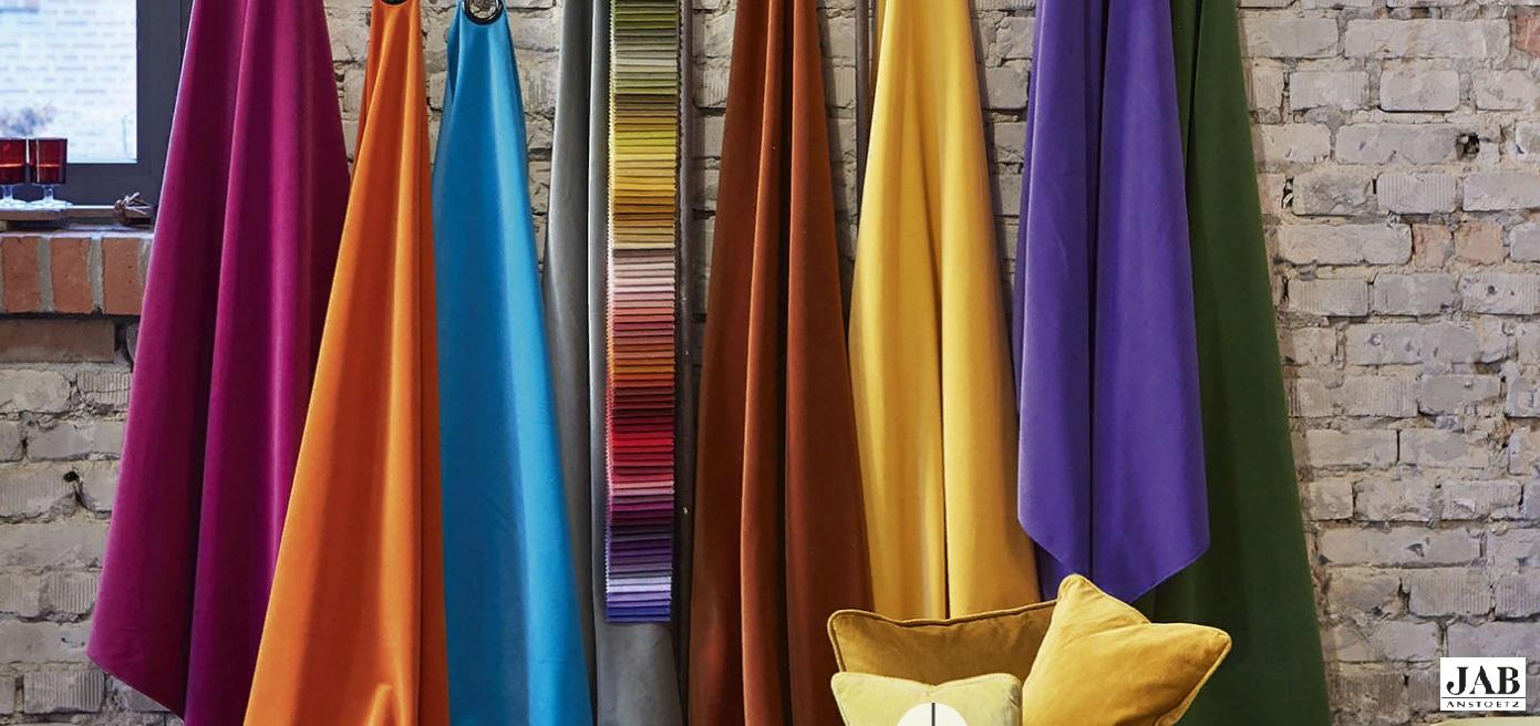 Яркие цвета современных тканей для штор