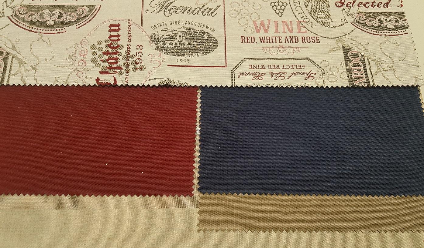 Шторы из двух видов ткани