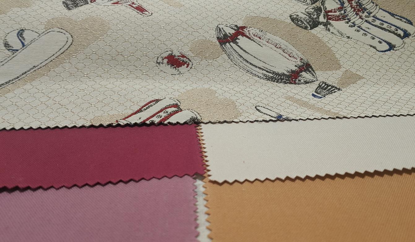 Комбинированные шторы из тканей одной коллекции