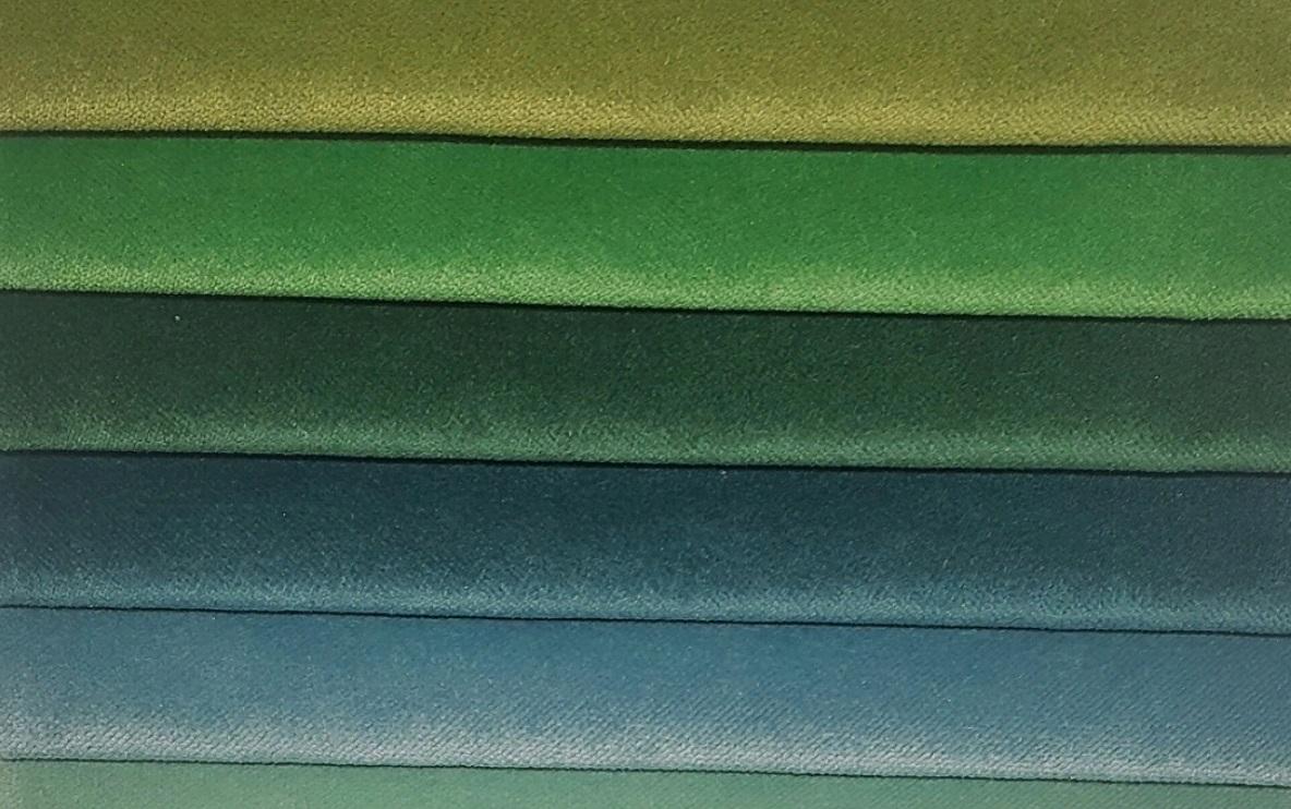 Ткани для бархатных штор зеленные