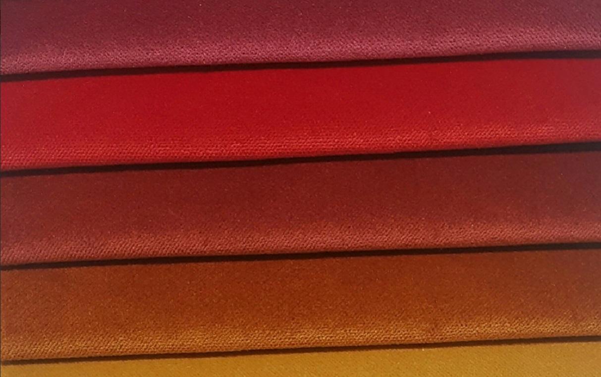 Красный бархат для шторы