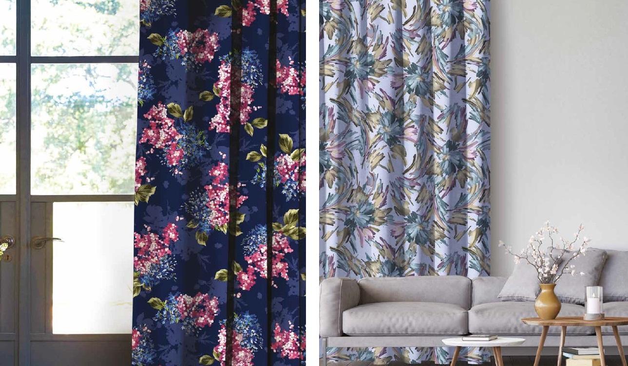 Красивый цветочный рисунок на ткани