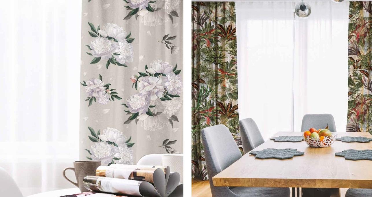 Купить красивую ткань для штор с цветами