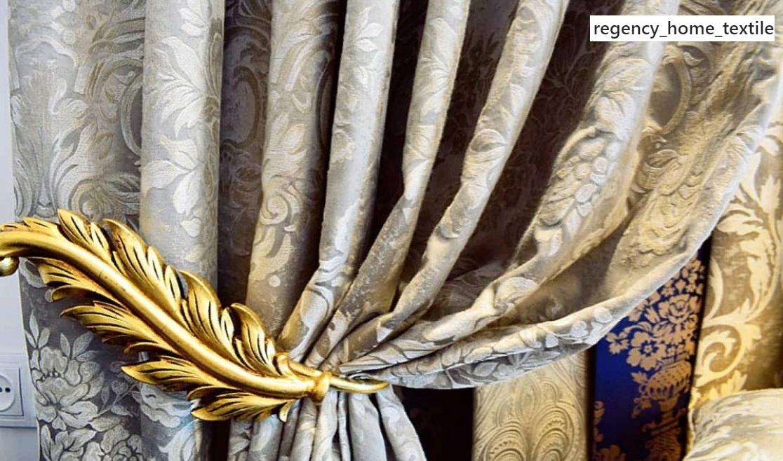 ткани для штор с золотыми узорами