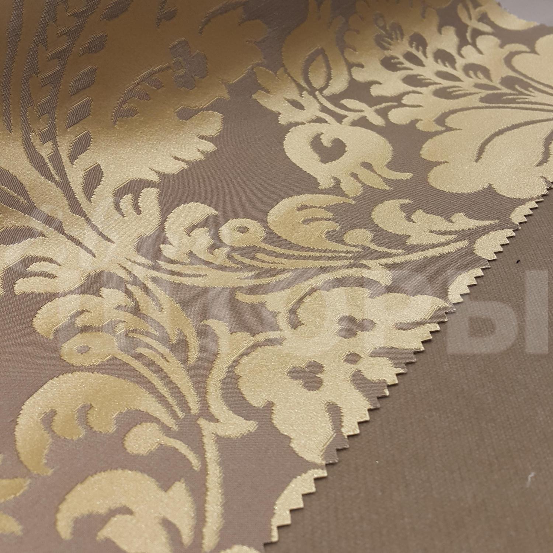 ткань для штор с золотым узором