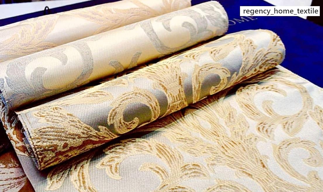 ткань для штор с золотом