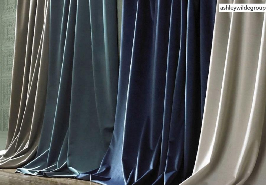 пошив бархатных штор